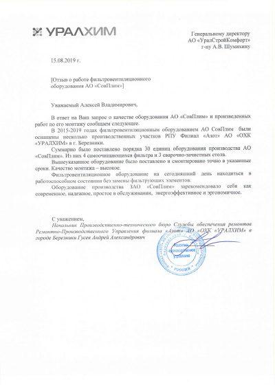 Отзыв Азот Уралхим