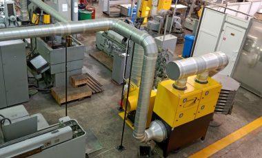 Система местной вытяжной вентиляции производственных участков – поставка, монтаж